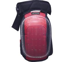 Knieschoner Gelo schwarz/rot mit Stichschutz DIN EN 14404:2010, 2 Stück