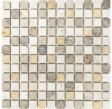 Natursteinmosaik XNT 46380 braun/beige 30,5x30,5 cm
