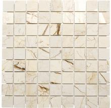 Natursteinmosaik MOS 32/2807 beige/gold 30,5x30,5 cm