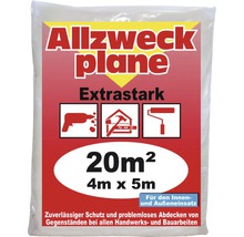 Allzweckplane 4 x 5 m 20 m² transparent