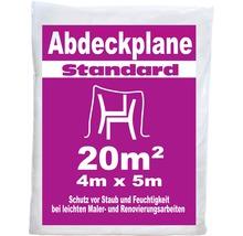 Abdeckplane Standard 4 x 5 m 20 m² transparent