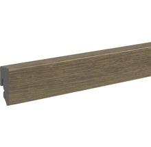 Sockelleiste PVC KU48L Eiche graubraun 15x38,5x2400 mm